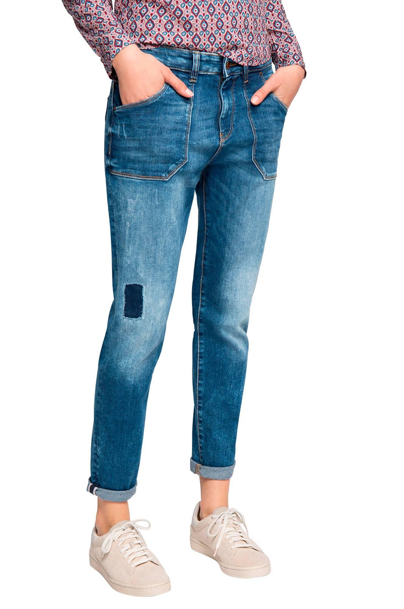 Jeans i boyfriend-look Esprit Jeans til Kvinder i Blå