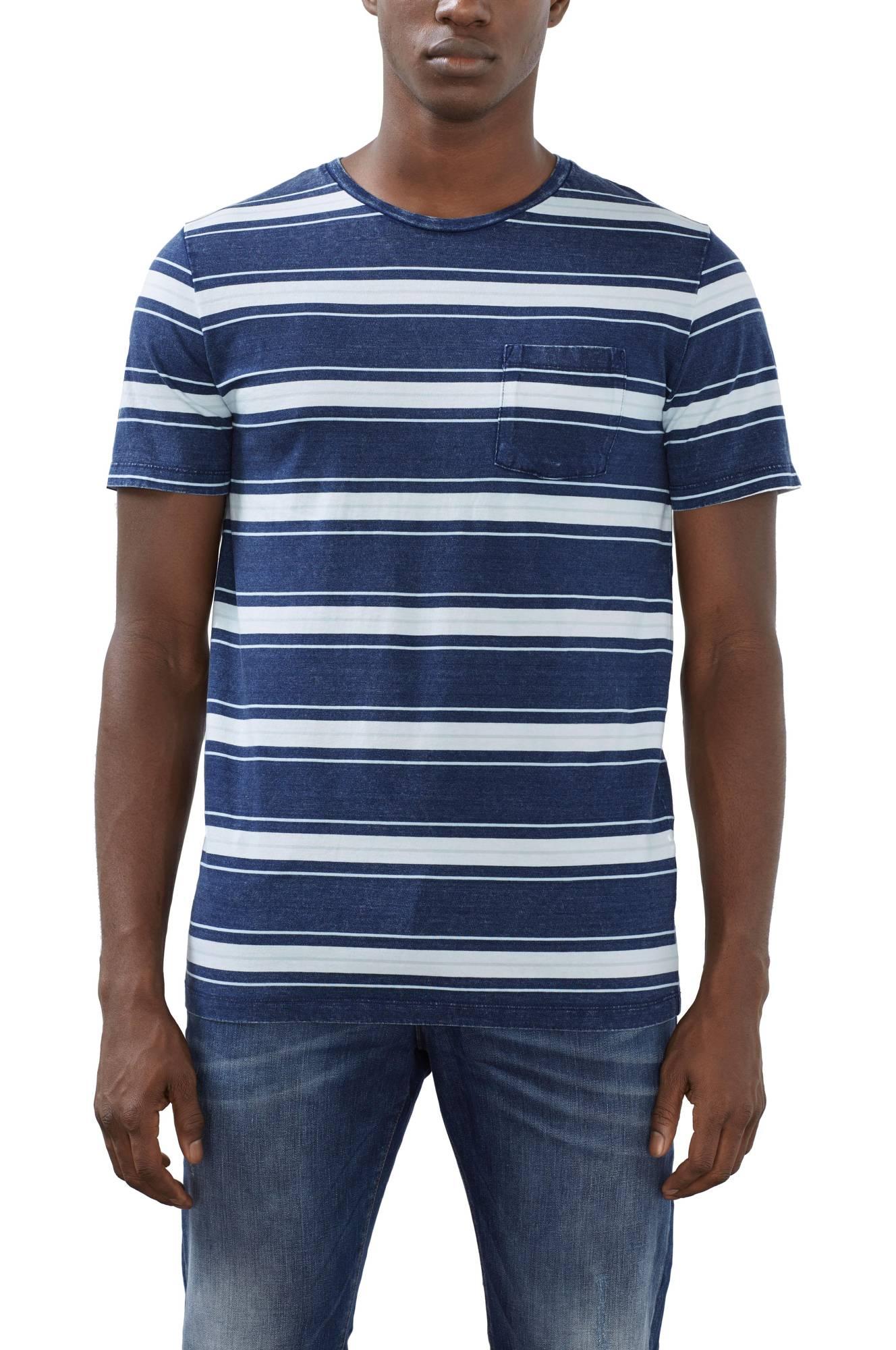 18a7cfc5c64 Stribet T-shirt Esprit T-shirts & tanktoppe til Mænd i Mørkeblå