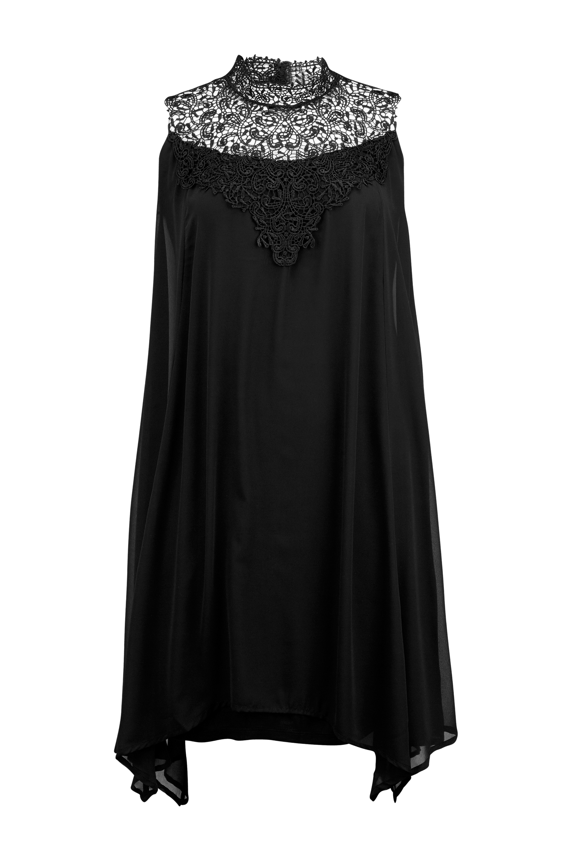 Kjole med blondebærestykke Zizzi Kjoler til Kvinder i Sort