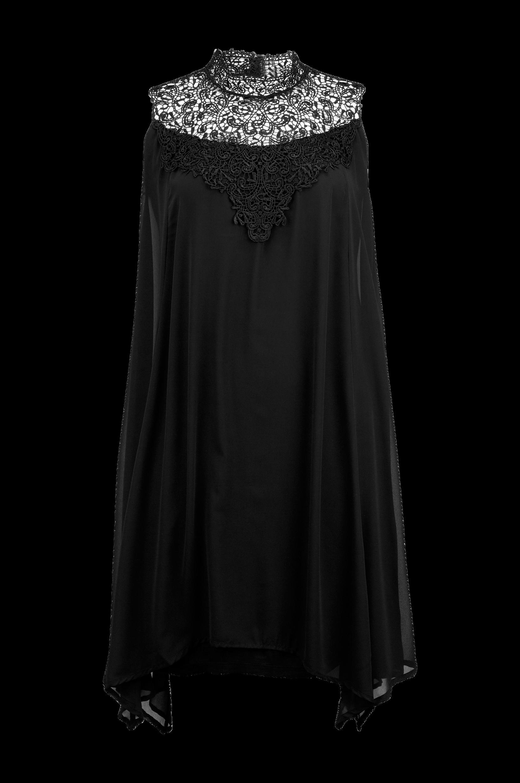 c6a4c74b120d Kjole med blondebærestykke Zizzi Kjoler til Kvinder i Sort