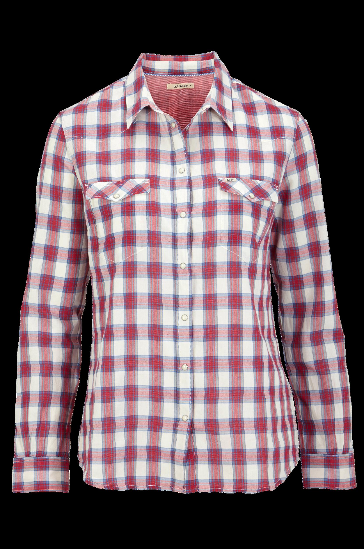 Skjorte Western Slim Lee Skjorter & bluser til Kvinder i Rød/hvid