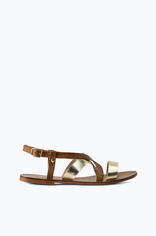 Sandal Orlando Ellos Sandaler & sandaler med hæl til Kvinder i Brun/guldfarvet
