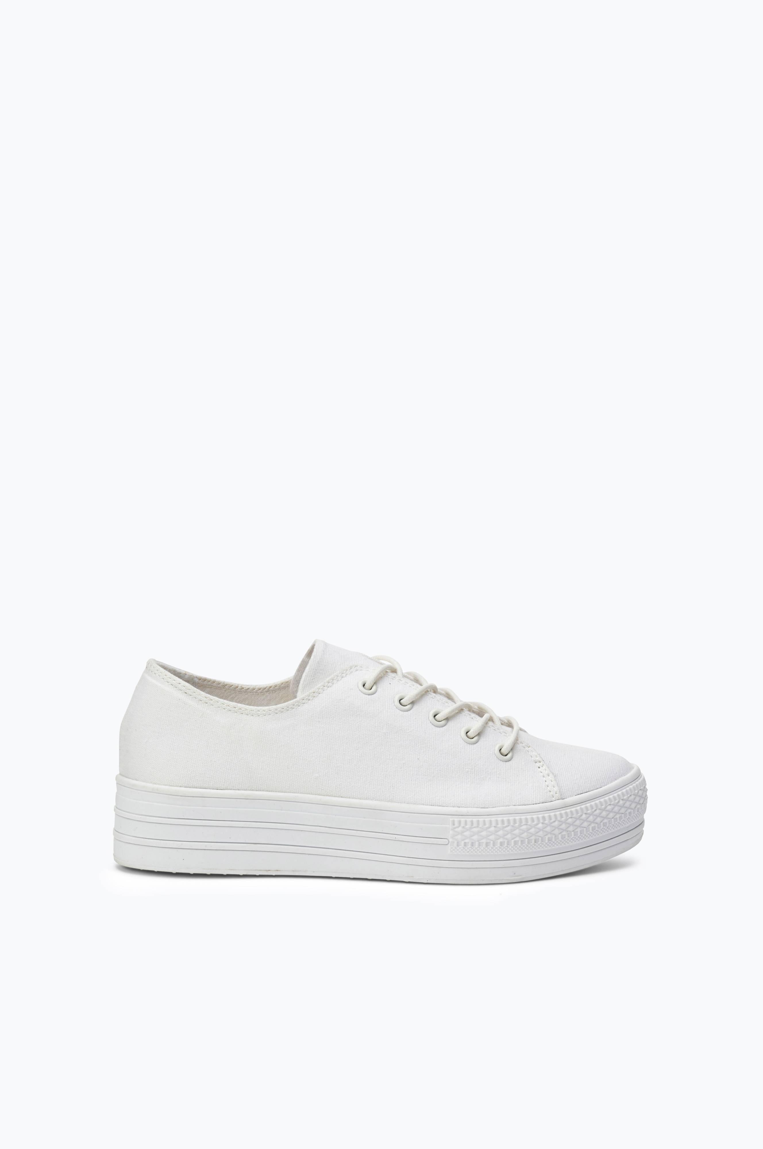 Sneakers hvidt med Hvid Ellos plateau Ellos Dame Shoes dk tsrhdQC