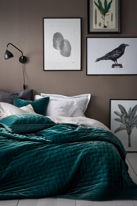 Ellos HomeÖverkast Greta i tvättad sammet 260×260 cm Grön Hem& inredning Ello