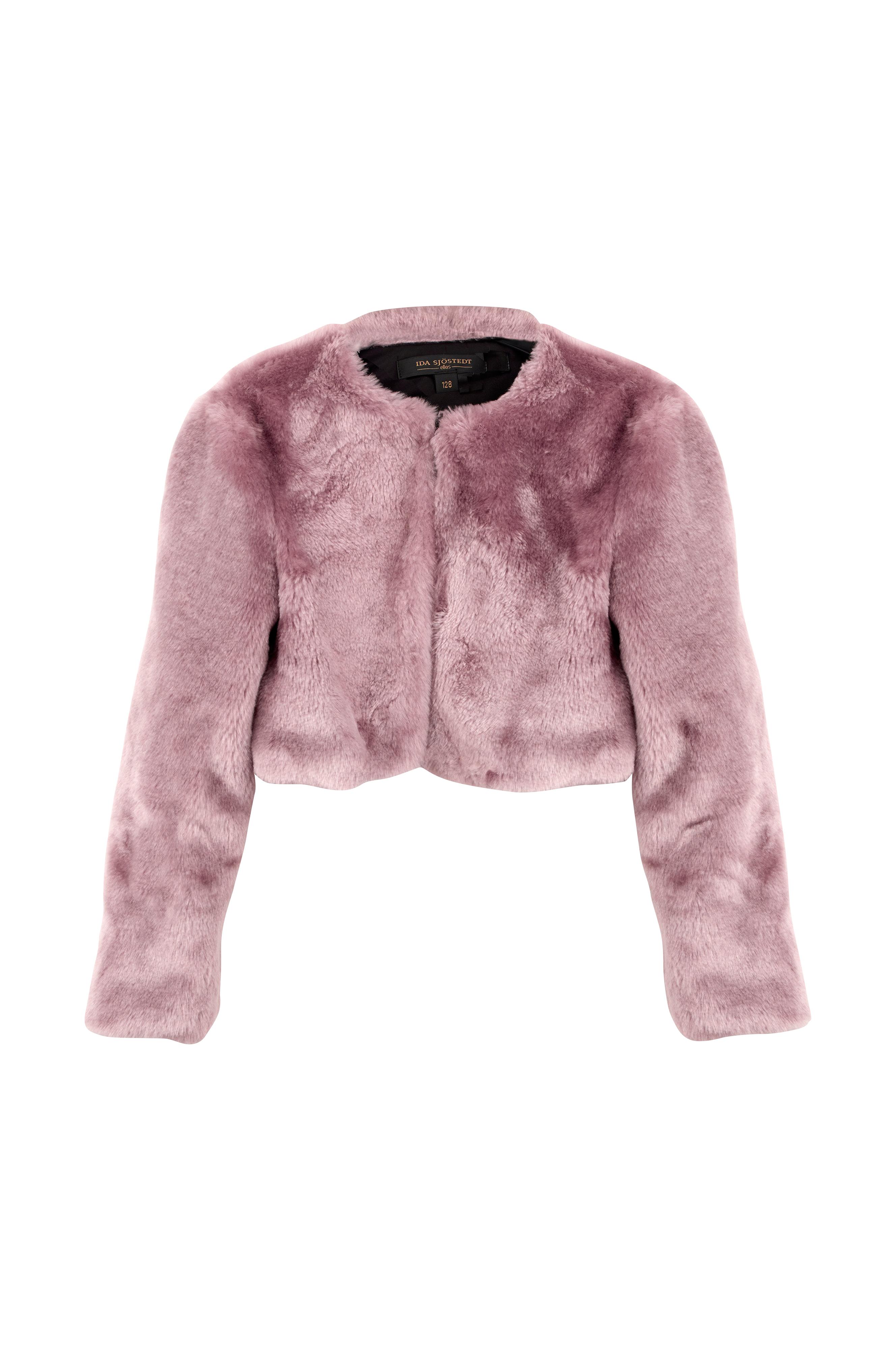 Kort jakke i fuskepels