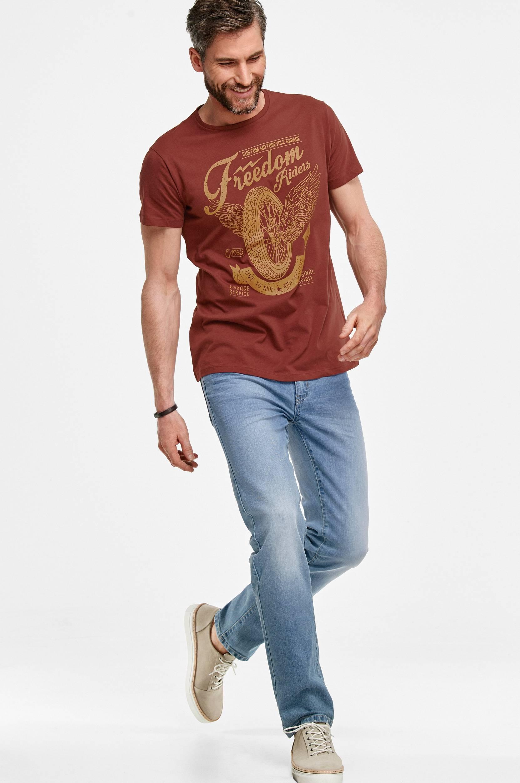 T-shirt af bomuldsjersey Ellos T-shirts & tanktoppe til Mænd i Vinrød