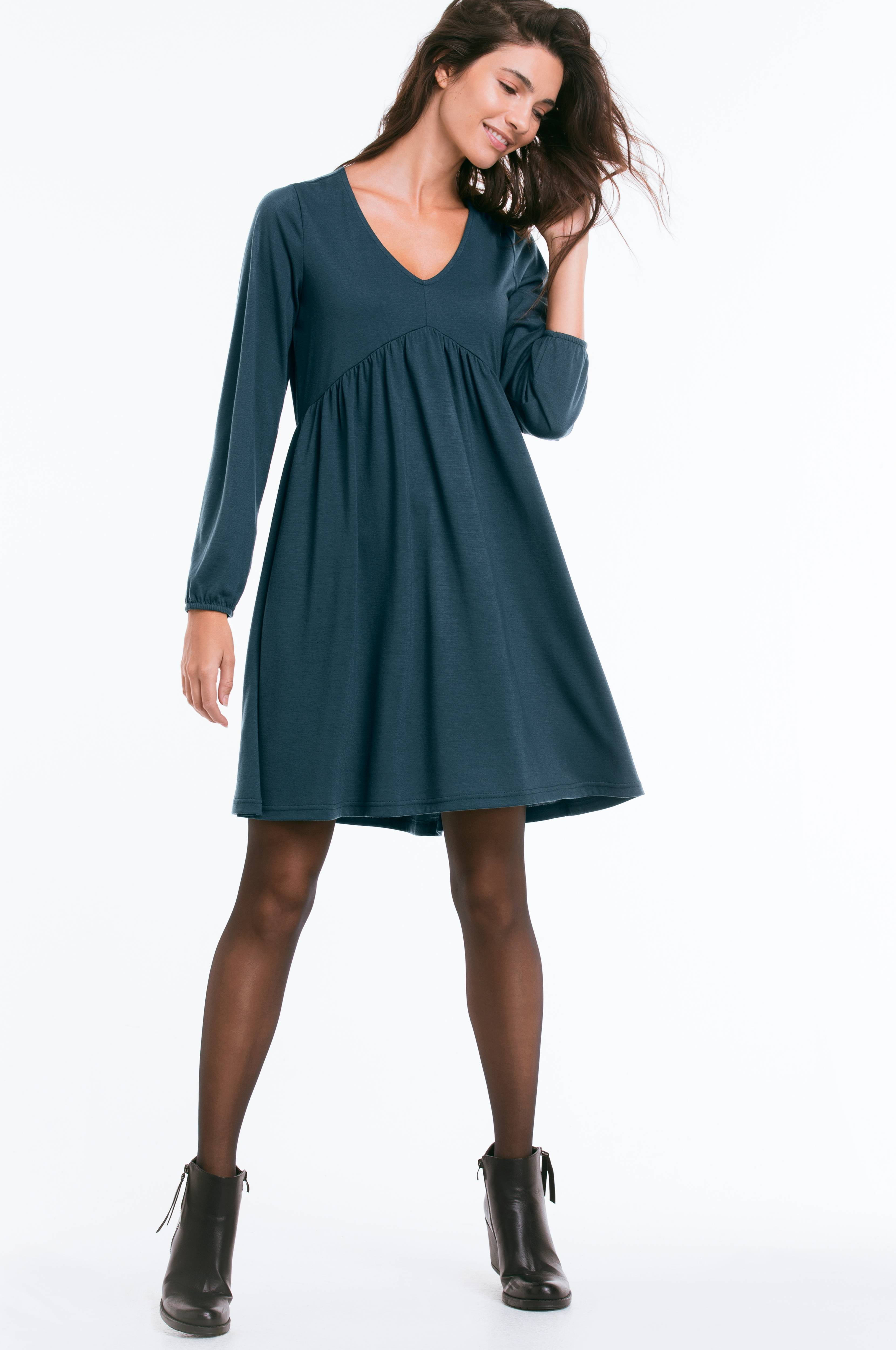408b17abcfb8 Ellos Collection Langærmet kjole af jersey - Blå - Dame - Ellos.dk