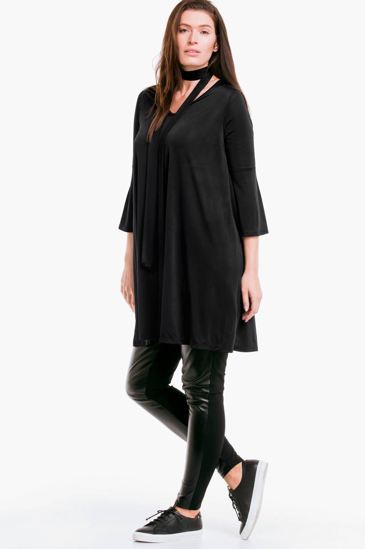 Tunika af dejlig stretchjersey Ellos Skjorter & bluser til Kvinder i Sort