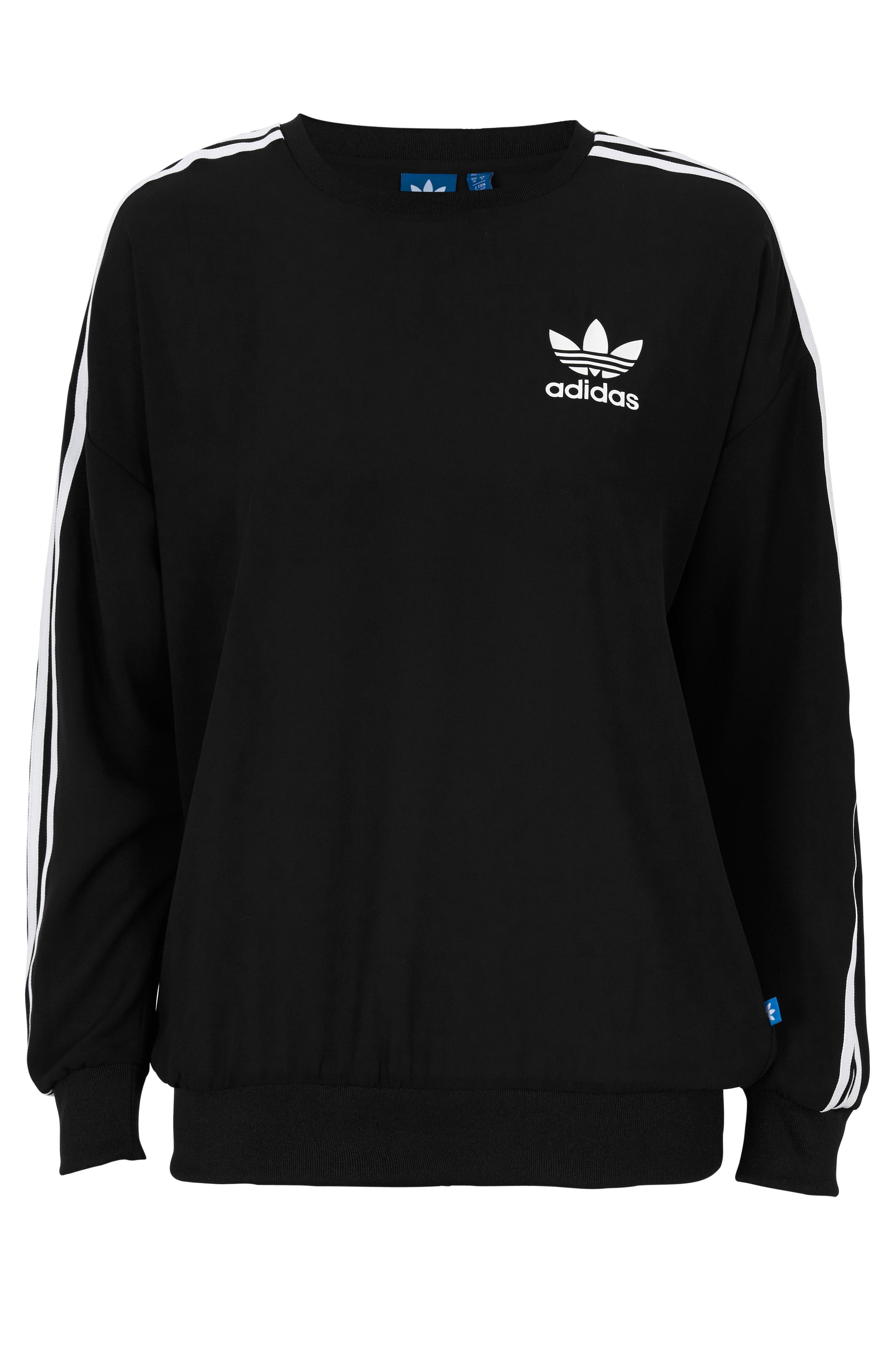 6d8740d5 adidas Originals Genser 3stripes Sweats - Svart - Dame - Ellos.no