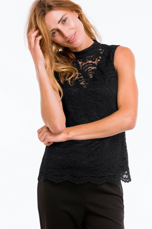 Blondebluse med turtleneck Ellos Skjorter & bluser til Kvinder i Sort
