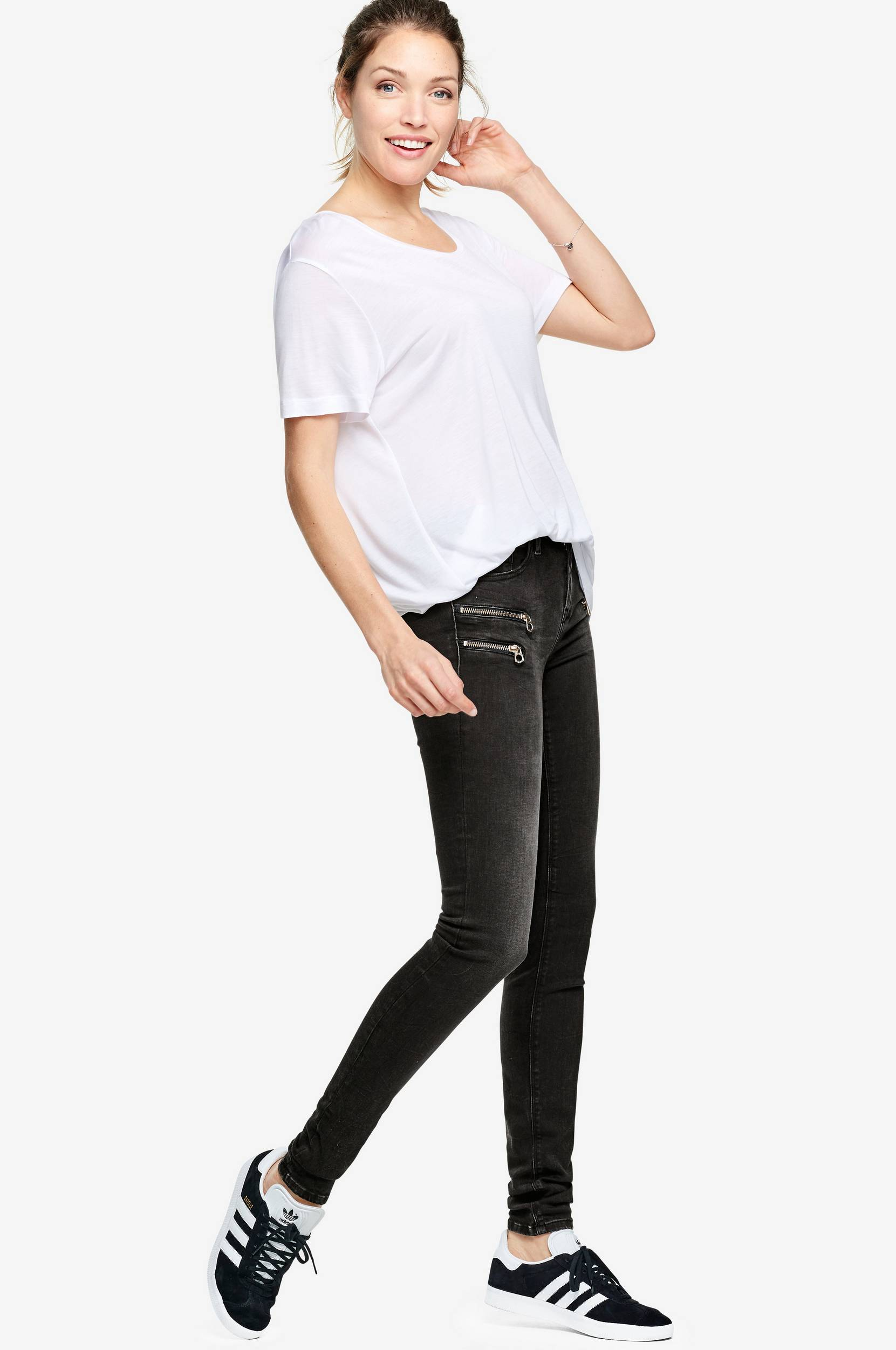 Jeans Joi Highwaist, slim fit Replay Jeans til Kvinder i Sort