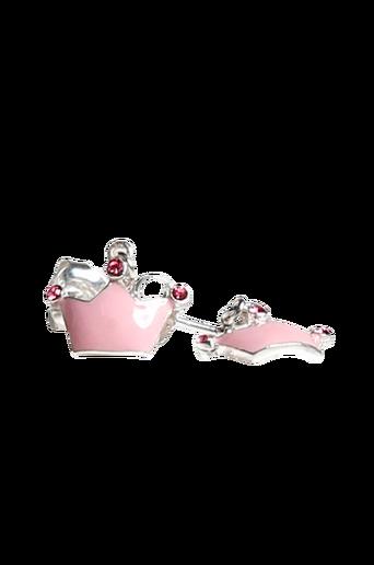 Korvakorut, vaaleanpunainen prinsessakruunu