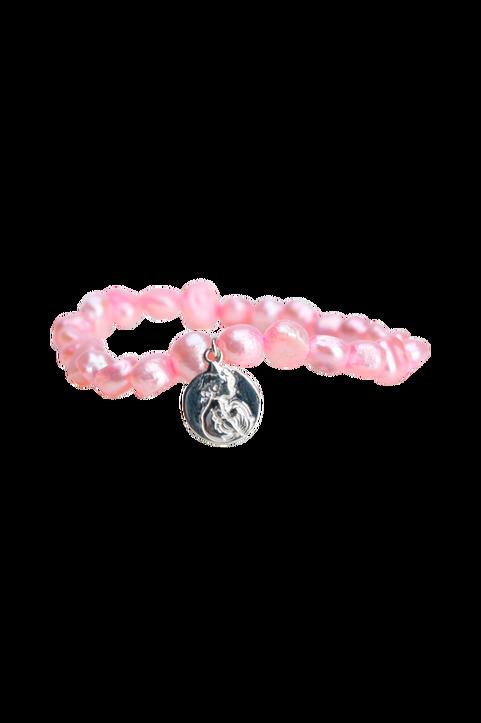 Armband Rosa Pärlor Med Mynt