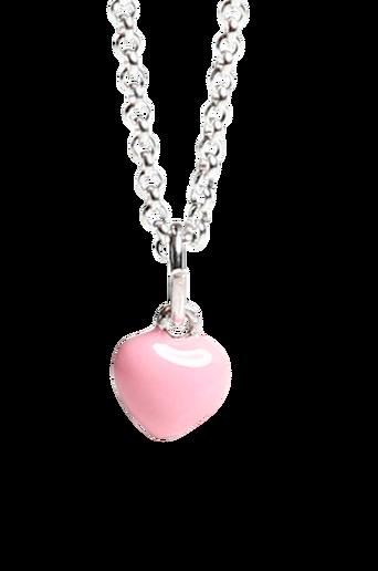 Kaulakoru, vaaleanpunainen sydän