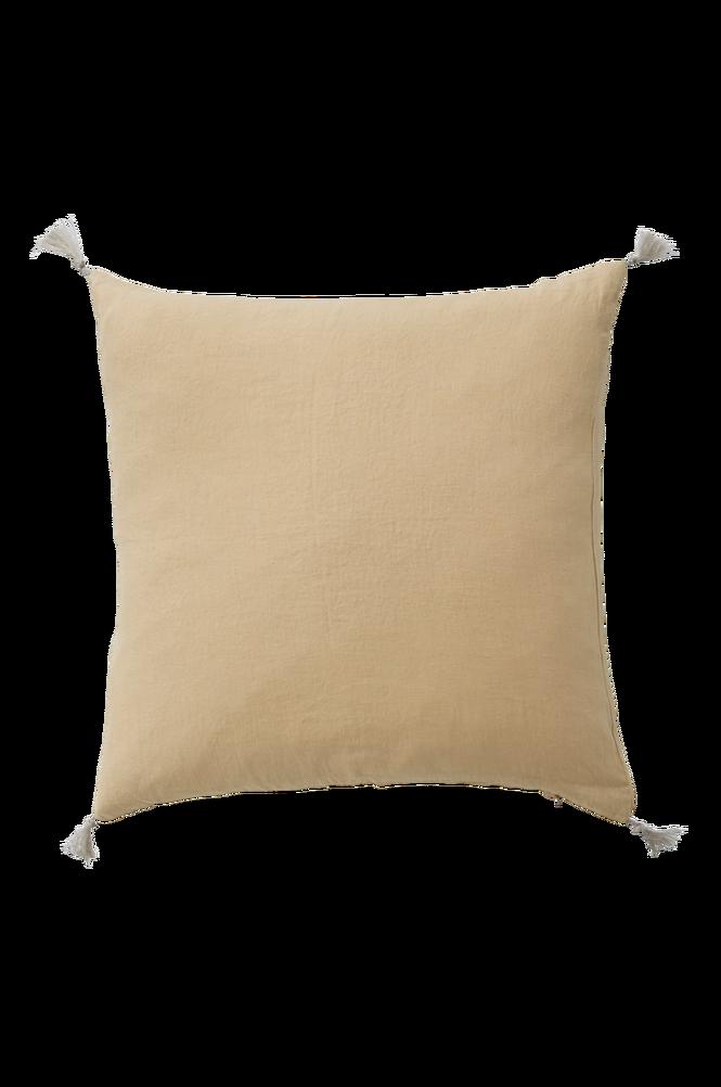 Kuddfodral Candice Tassel i tvättat lin 50×50 cm