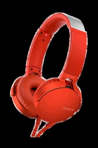 Headset MDR-XB550AP, punainen