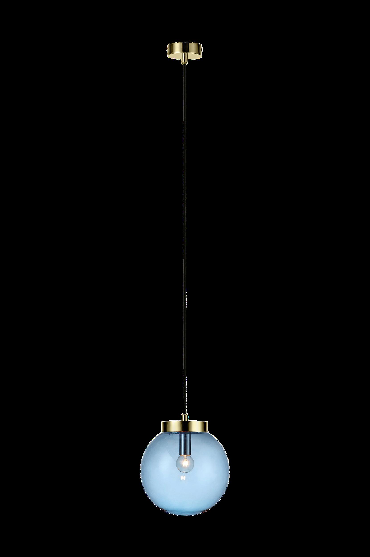 BALL Pendel -ikkunavalaisin Messinginvärinen/sininen