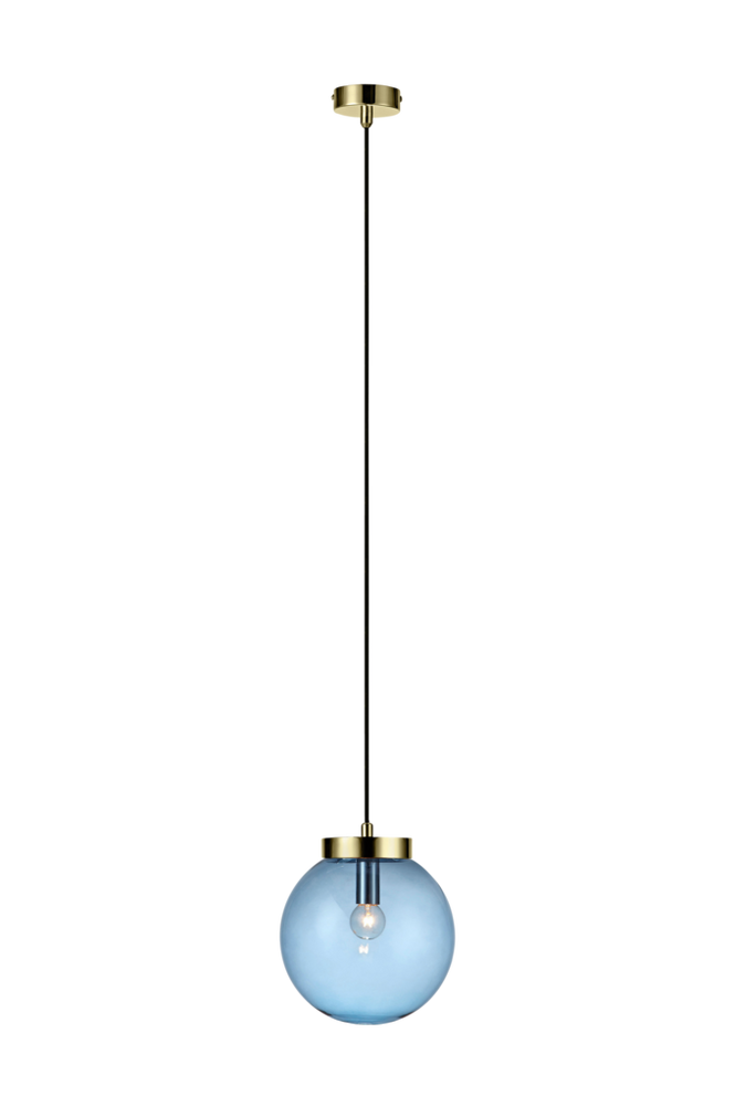 Fönsterlampa BALL Pendel Mässing/Blå