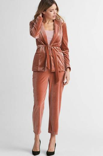 ViAliana 7/8 Pants -samettihousut