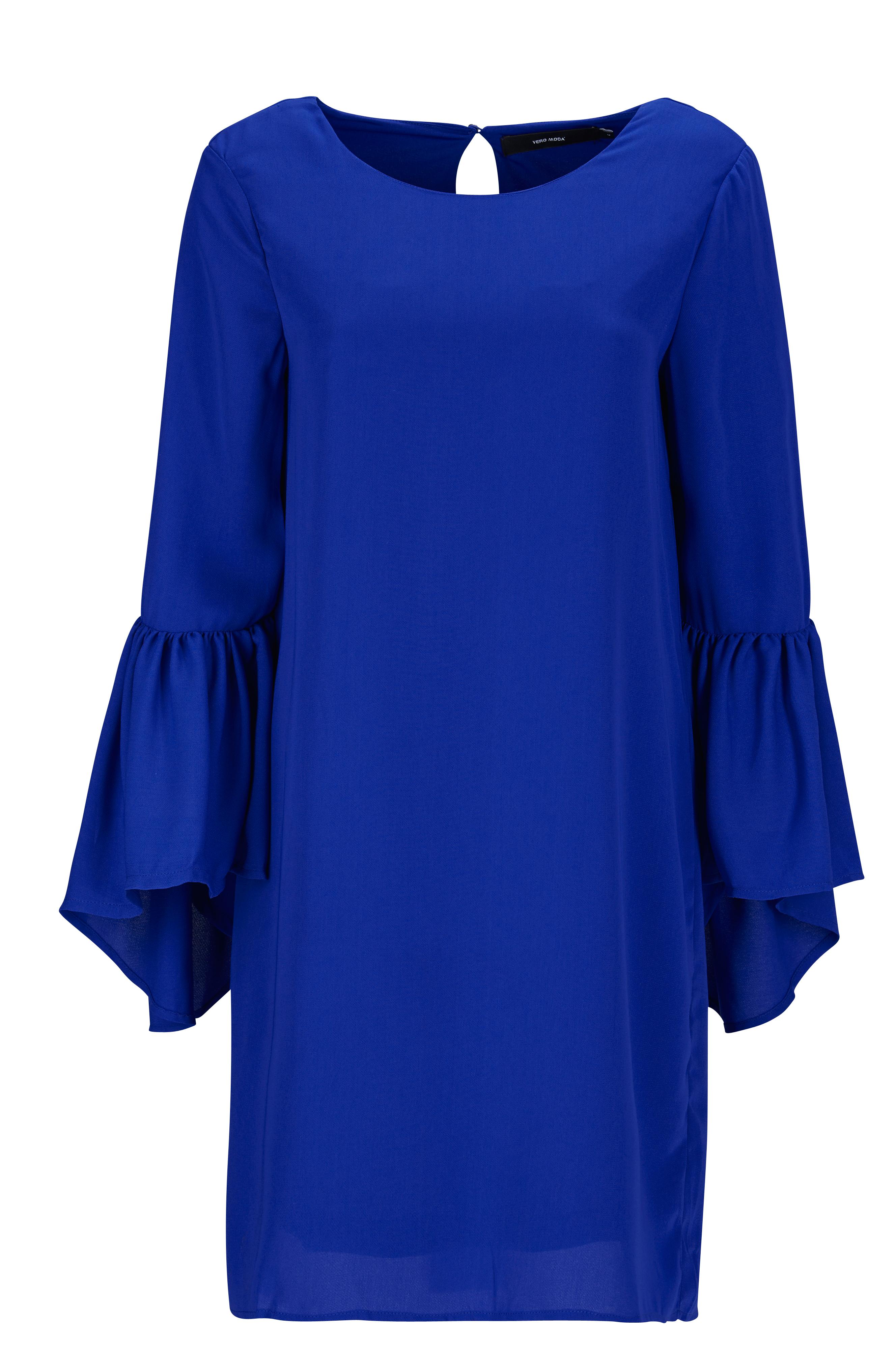 c2a20b06eb75 Vero Moda Klänning VmPerfect 3/4 Short Dress - Blå - Dam - Ellos.se