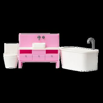 Basic-nukkekodin kylpyhuone