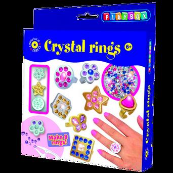 Kristallirenkaat-askartelusetti