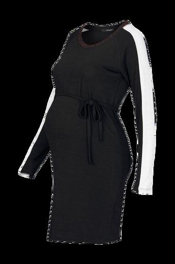 Ls Black Ribbing -äitiysmekko
