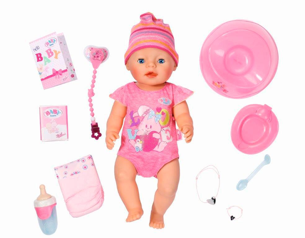 Interaktiivinen nukke roosa