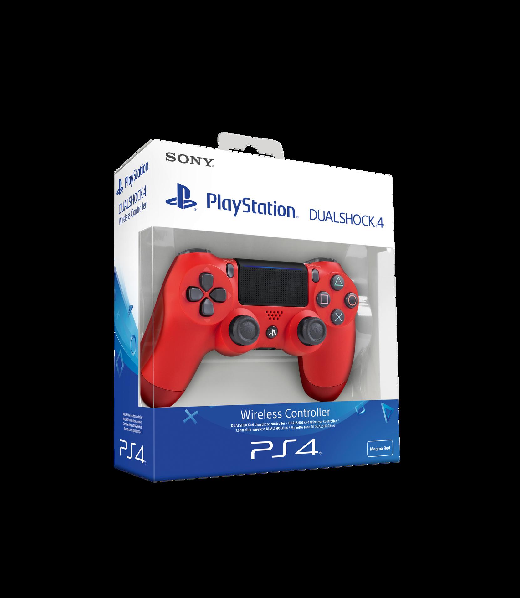 PS4 Dualshock V2 -käsiohjain, punainen