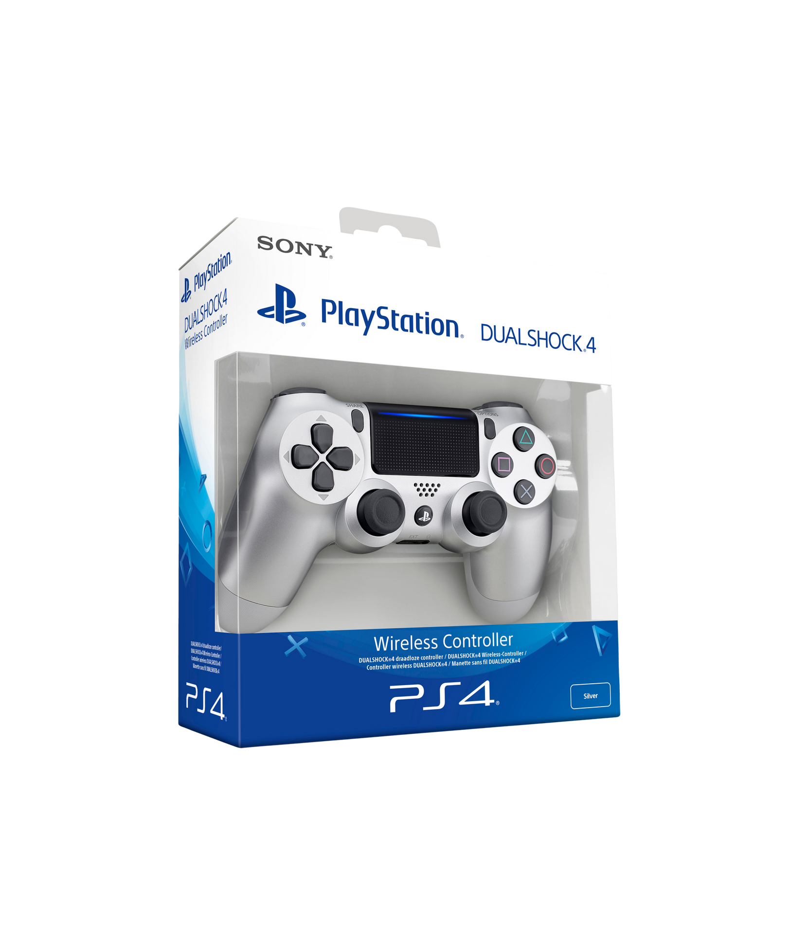 PS4 Dualshock V2 -käsiohjain hopeanvärinen