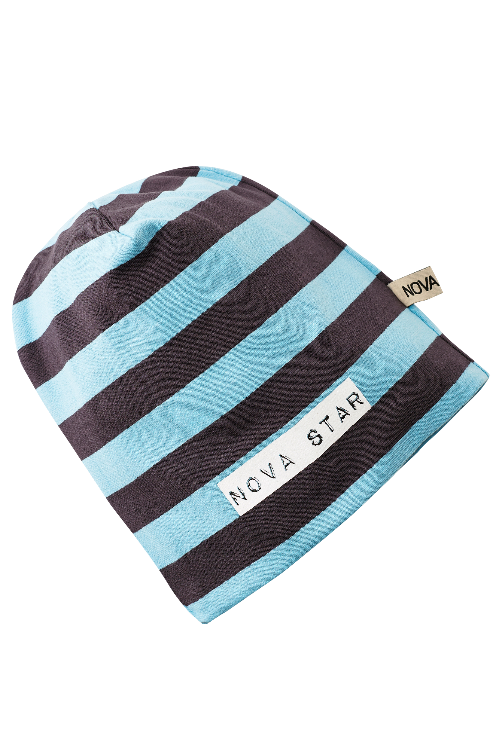 Mössa Beanie Striped Blue NB thumbnail
