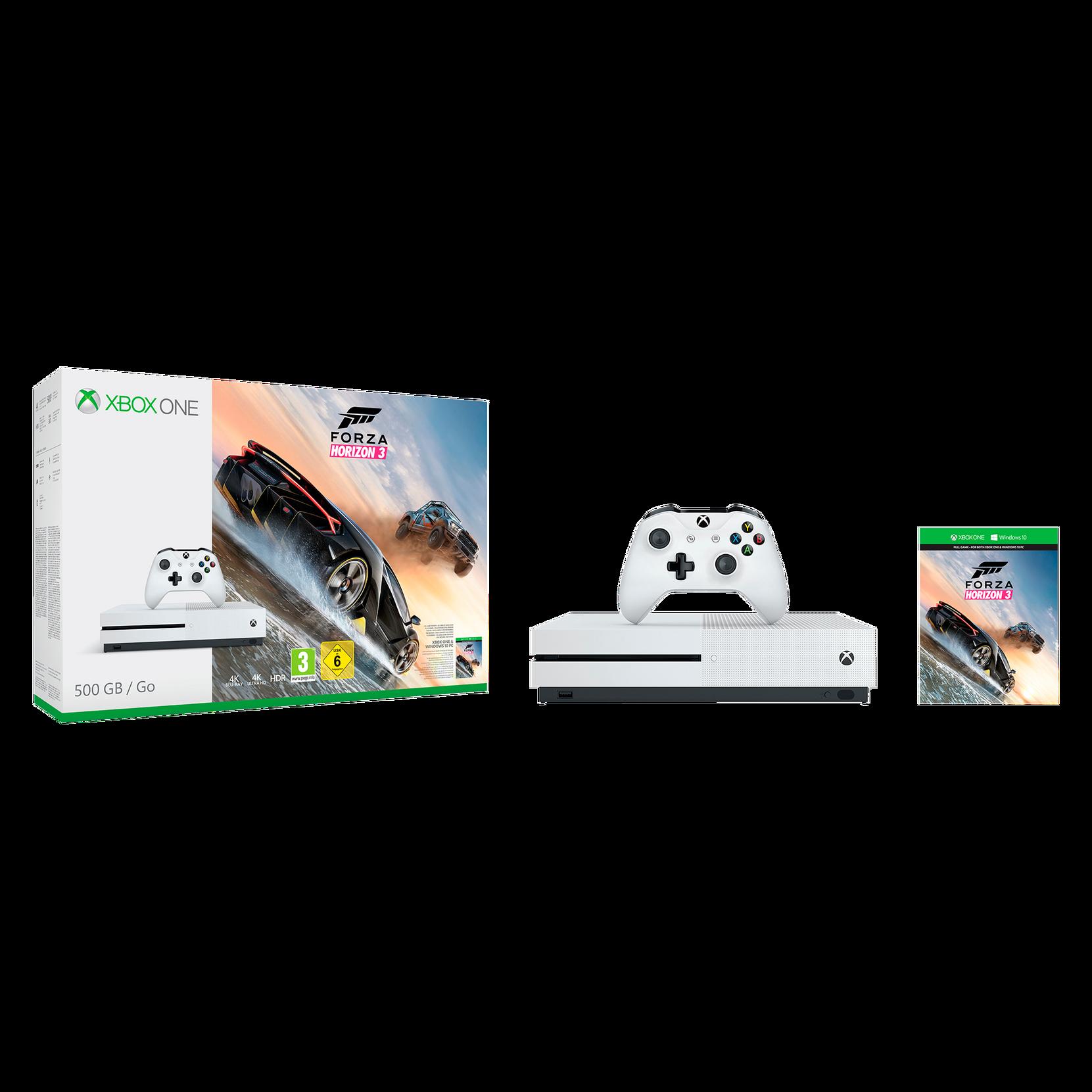 XBOX ONE S Forza Horizon 3 -pelikonsoli 500Gt