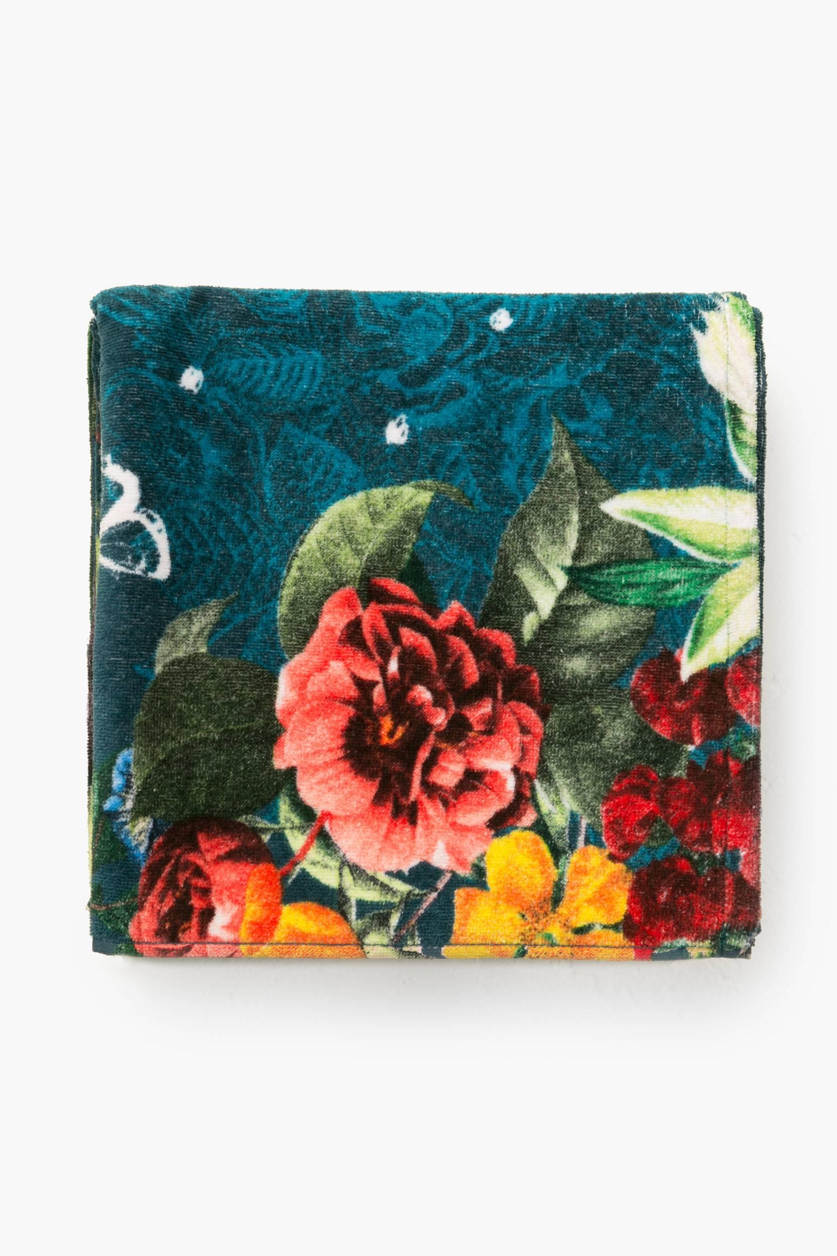 Dark Floral -kylpypyyhe