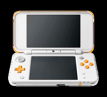 New 2DS XL HW -konsoli, valkoinen/oranssi