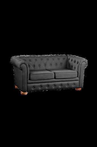 Chesterfield-sohva, tummanharmaa