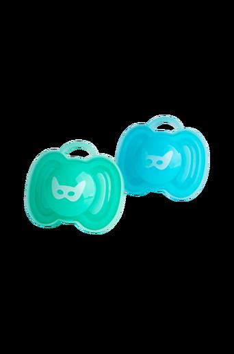 HeroPacifier-tutit, 2/pakk., 0 kk, sininen/turkoosi