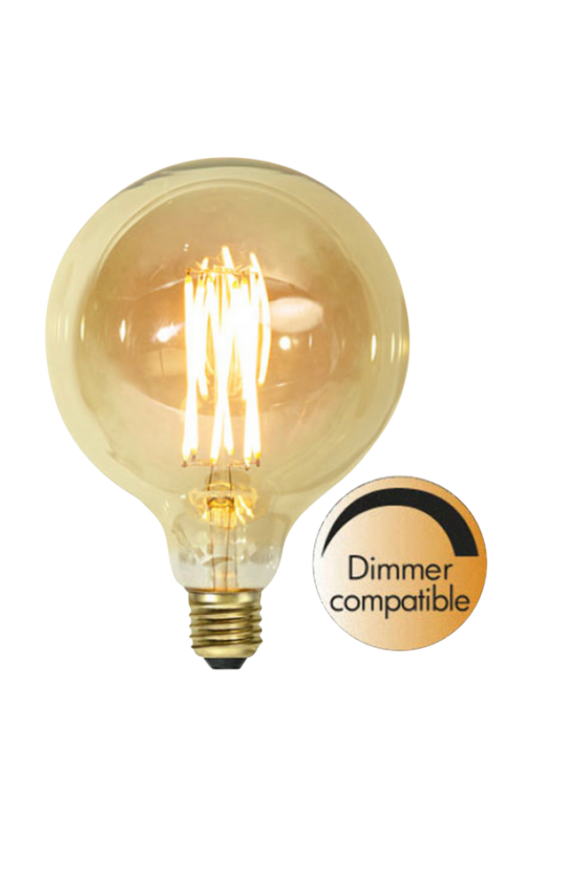 Bilde av LED-lampe E27 G125 Vintage Gold