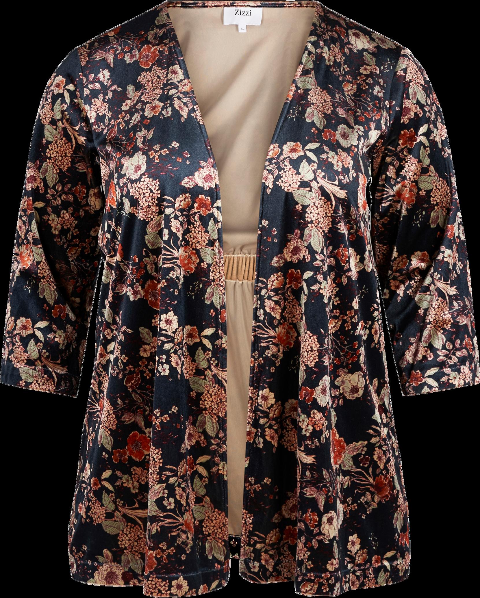 Kimono kuviollista samettia