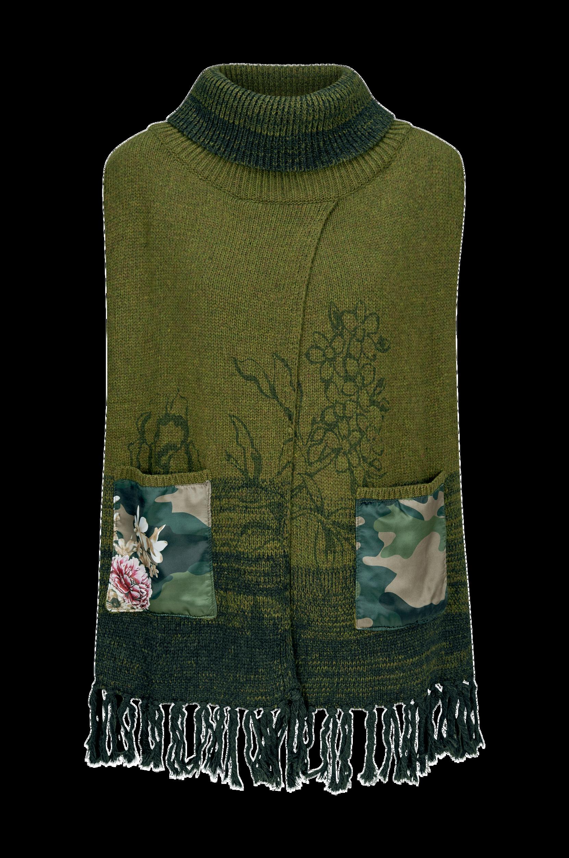 Militar Flores poncho