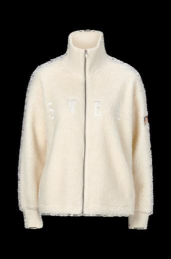 Kathryn Pile Zip Sweater -collegetakki