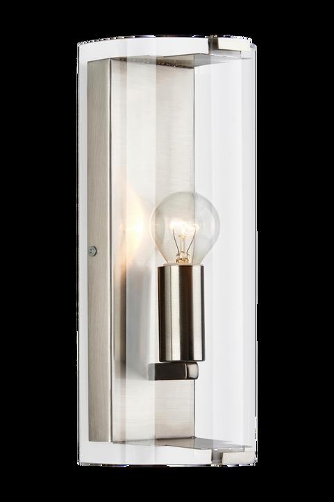 FORUM Vägglampa Krom/Klar