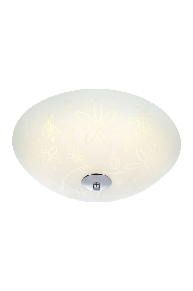 Bilde av FLEUR Plafond LED 35 cm Hvit/krom