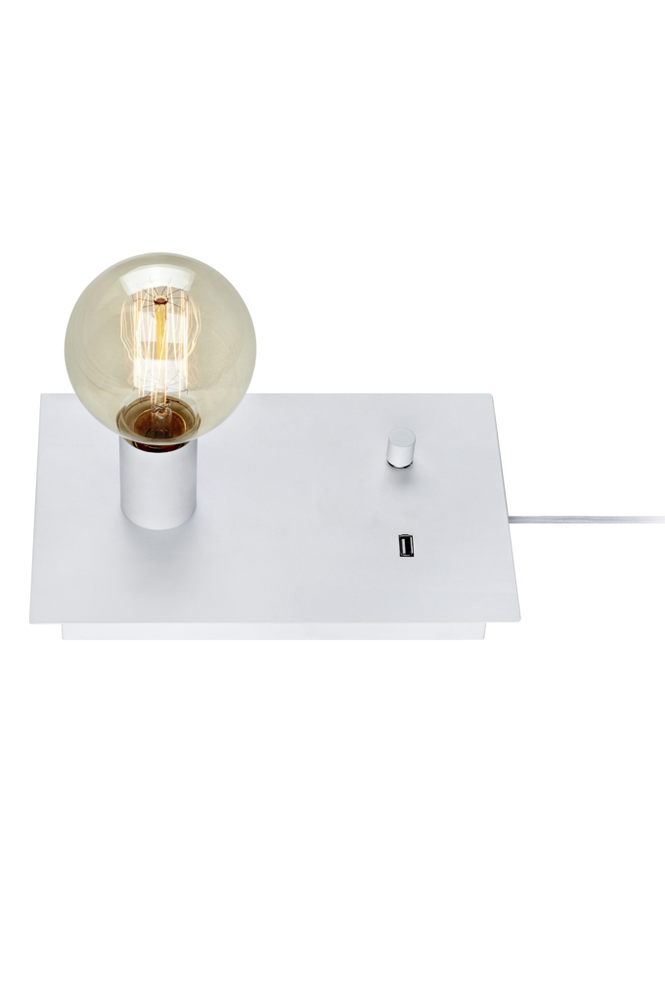 LOAD Bordslampa USB Vit