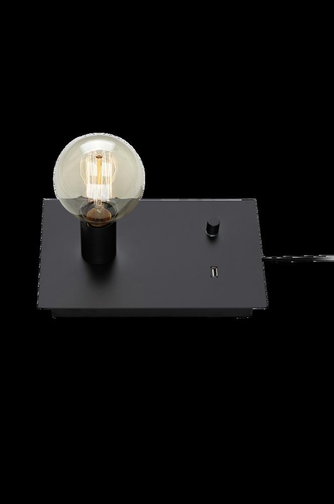 LOAD Bordslampa USB Svart