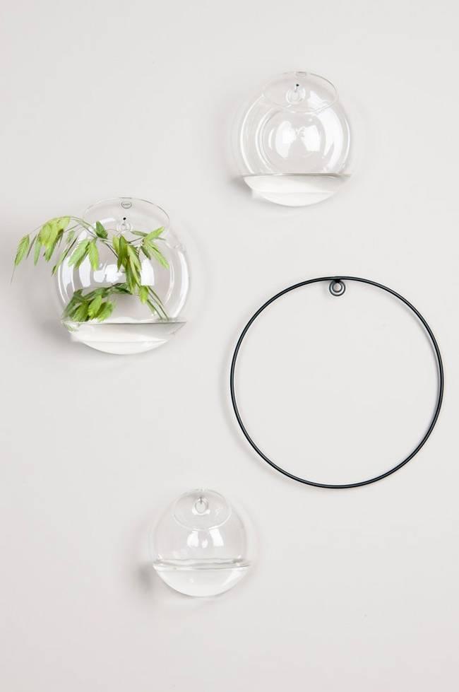 Bilde av Veggvase i glass stor