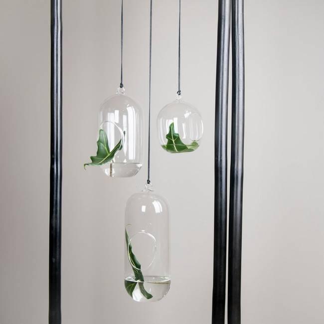Bilde av Hengende glassampel medium