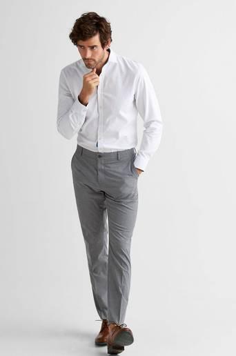 ShdNewone-Mylologan1 Medium Grey Melange -housut, slim fit -istuvuus