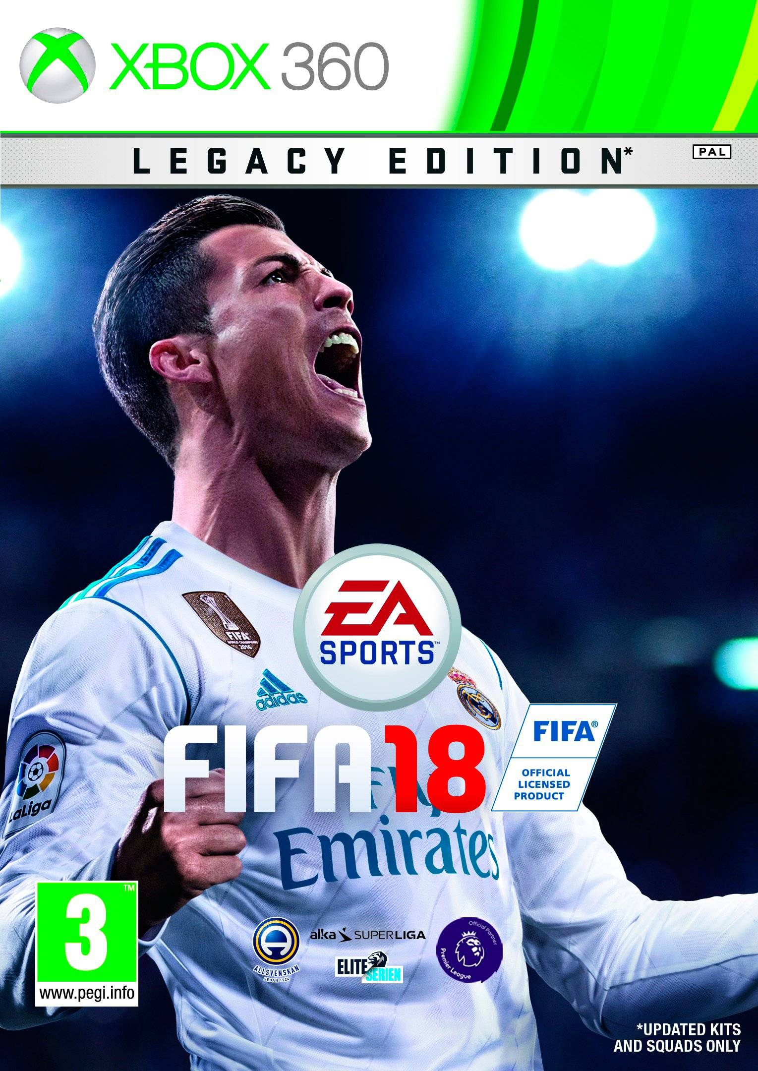 Fifa 18 Legacy Edition -peli, XBOX 360