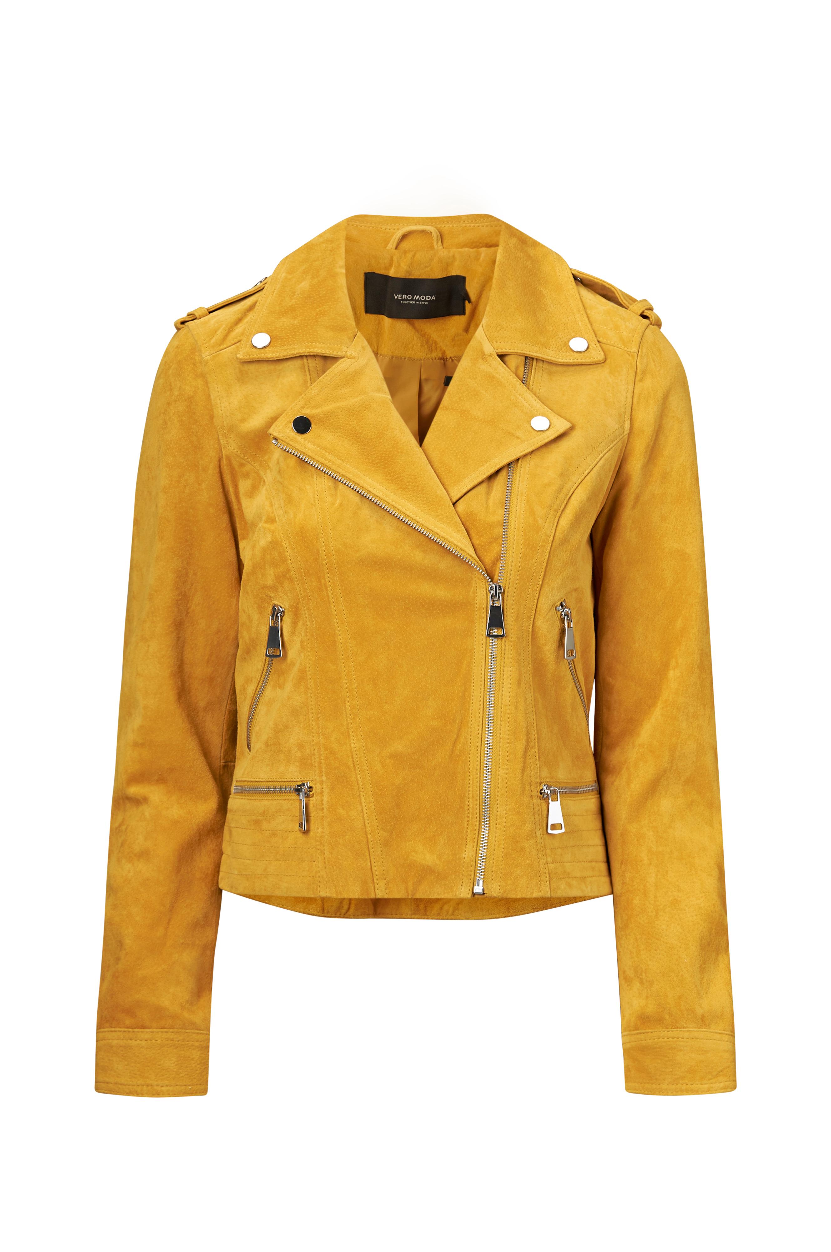 b003cacd Vero Moda Semsket jakke vmRoyce Short Suede Jacket - Gull - Dame - Ellos.no