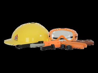 Suojakypärä ja työkalut